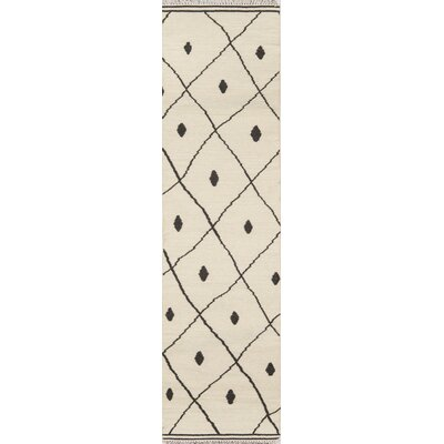 Thompson Appleton Hand-Woven Wool Ivory Area Rug Rug Size: Runner 23 x 8