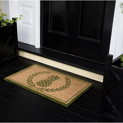 Park Hand Woven Doormat Color: Green