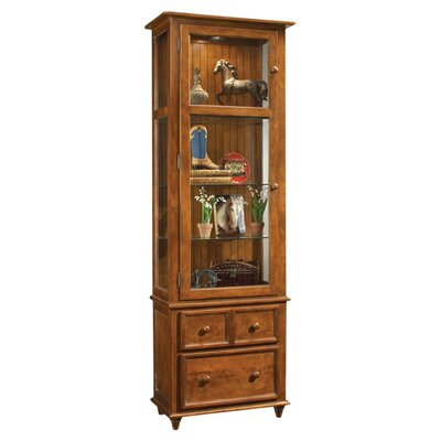 ColorTime Vista Lighted Curio cabinet Color: Chestnut