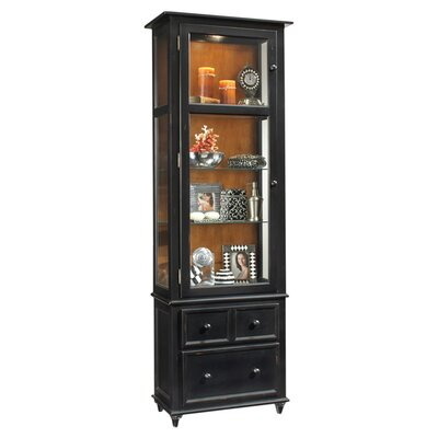 ColorTime Vista Lighted Curio cabinet Color: Pirate Black