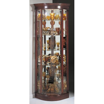 Buy Low Price Philip Reinisch Co. Auberge Corner Curio Cabinet in Candlelight Cherry (PA1072)