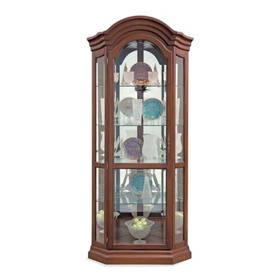 Lighthouse Serpentine Corner Curio Cabinet