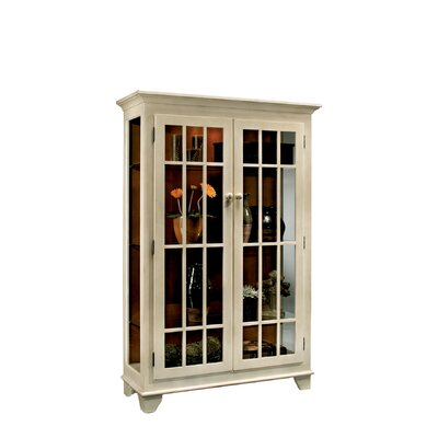 ColorTime Monterey Lighted Curio Cabinet Color: Sand Shell White