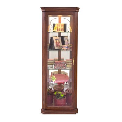 Lighthouse Tempo Lighted Corner Curio Cabinet
