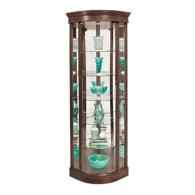 Auberge Lighted Corner Curio Cabinet Color: Candlelight Cherry