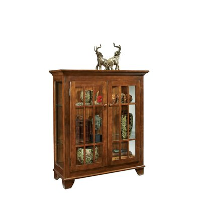 ColorTime Console Curio Cabinet Finish: Chestnut
