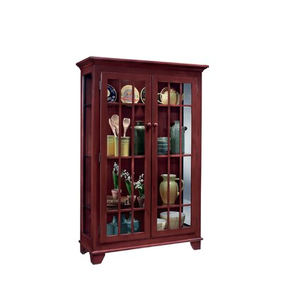 ColorTime Monterey Lighted Curio Cabinet Color: Chili Pepper Red