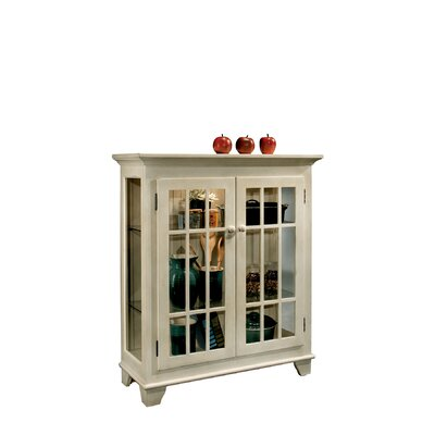 ColorTime Lighted Console Curio Cabinet Color: Sand Shell White