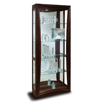 Halo Gemini Lighted Curio Cabinet Color: Metallic Espresso