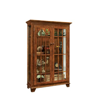 ColorTime Monterey Lighted Curio Cabinet Color: Chestnut