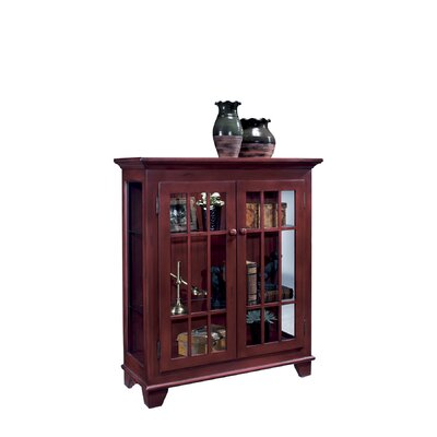 ColorTime Lighted Console Curio Cabinet Color: Chili Pepper Red