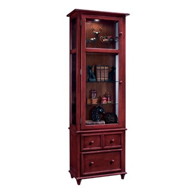ColorTime Vista Lighted Curio cabinet Color: Chili Pepper Red