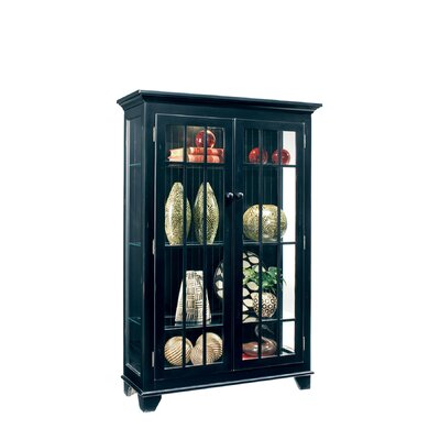 ColorTime Monterey Lighted Curio Cabinet Color: Pirate Black