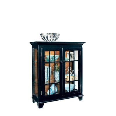 ColorTime Lighted Console Curio Cabinet Color: Pirate Black