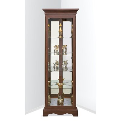 Hawthorne Lighted Corner Curio Cabinet