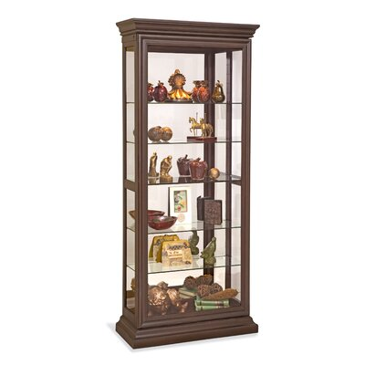 Destiny Lighted Curio Cabinet Color: Espresso