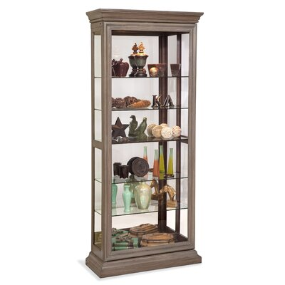 Destiny Lighted Curio Cabinet Color: Rustic Oak