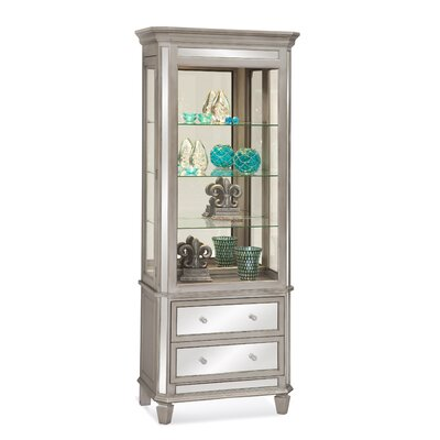 Presidio China Cabinet Finish: Distressed SIlver