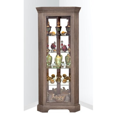 Newport I Lighted Corner Curio Cabinet