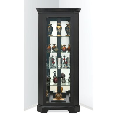 Newport II Corner Curio Cabinet Finish: Galaxy Black