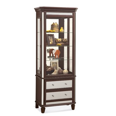 Presidio Lighted China Cabinet Color: Espresso