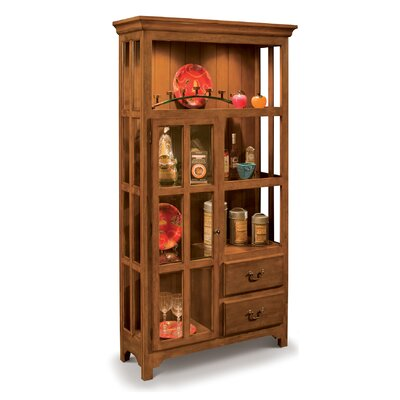 ColorTime Lighted Curio Cabinet Color: Chestnut