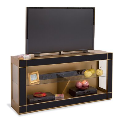 Altair Bunching TV Stand Finish: Midnight Black Glass/Antique Gold