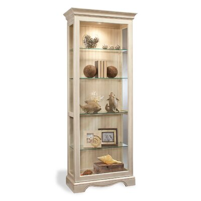 ColorTime Lighted Curio Cabinet Color: Sand Shell White