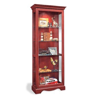 ColorTime Lighted Curio Cabinet Color: Chili Pepper Red