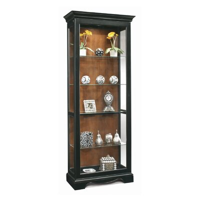 ColorTime Lighted Curio Cabinet Color: Pirate Black