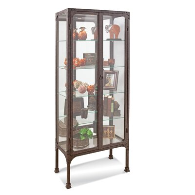Kildair I Lighted Curio Cabinet Color: Antique Espresso