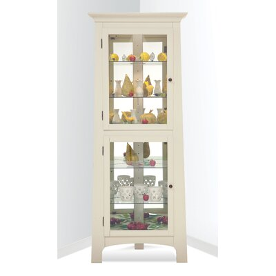 Westview Lighted Corner Curio Cabinet Color: Sandshell White