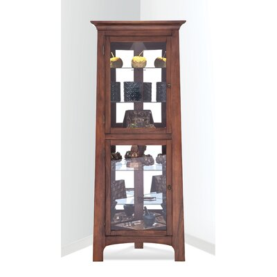 Westview Corner Curio Cabinet Finish: Chestnut