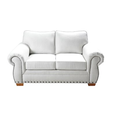 Huth Stationary Loveseat Upholstery: Cream