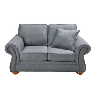 Hutson Stationary Loveseat Upholstery: Blue
