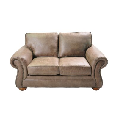 Hutson Stationary Loveseat Upholstery: Light Brown