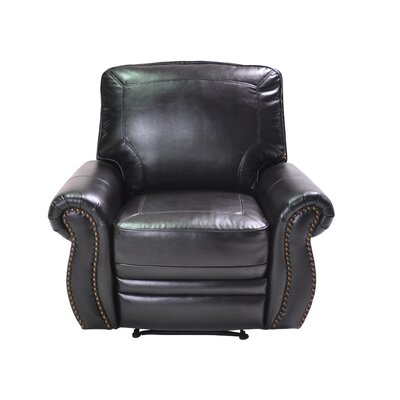 Castagna Manual Recliner Upholstery: Brown