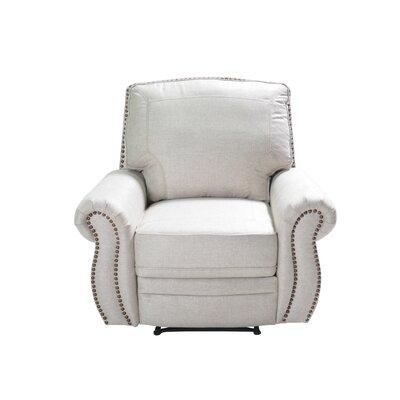 Castagna Manual Recliner Upholstery: Cream