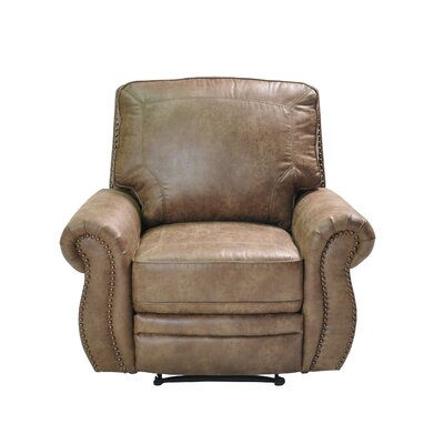Castagna Manual Recliner Upholstery: Light Brown