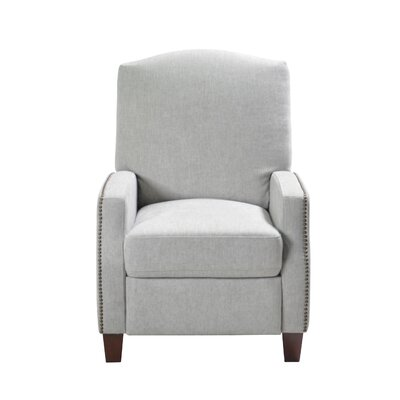 Dougan Push Back Manual Recliner Upholstery: Cream