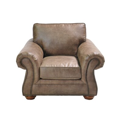 Hutto Stationary Armchair Upholstery: Light Brown