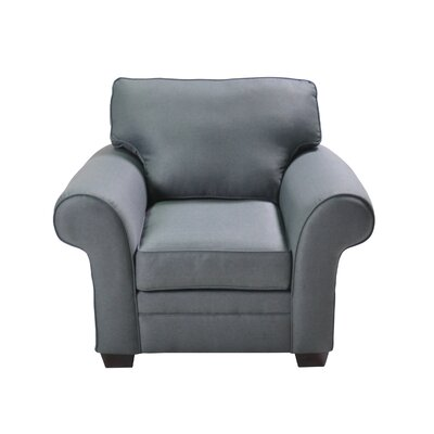 Zebrowski Stationary Armchair Upholstery: Blue