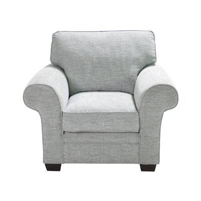 Zebrowski Stationary Armchair Upholstery: Light Gray