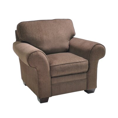 Zebrowski Stationary Armchair Upholstery: Brown