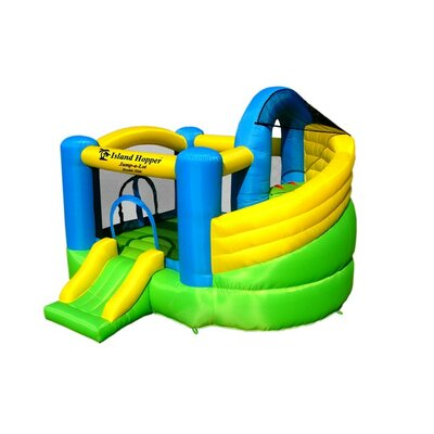 Jump-A-Lot Curved Double Slide Bounce House JALDS11118