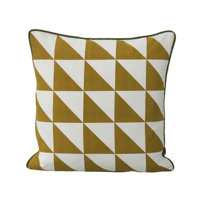 Modern Geometric Cotton Throw Pillow Color: Curry
