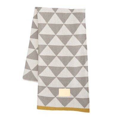 Modern Geometric Cotton Throw Blanket Color: Gray