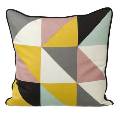 Remix Throw Pillow Color: Yellow