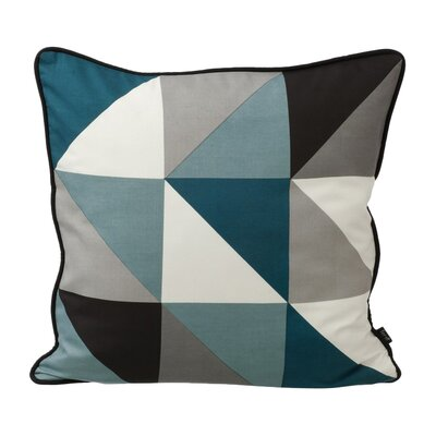 Remix Silk Throw Pillow Color: Blue