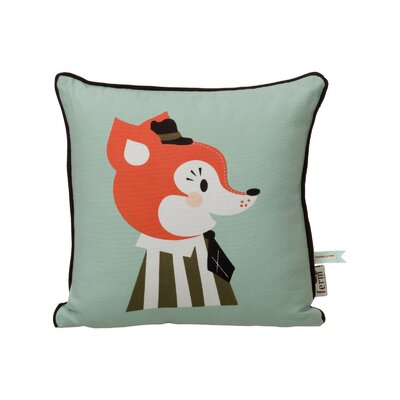 Mr. Frank Fox Cotton Throw Pillow